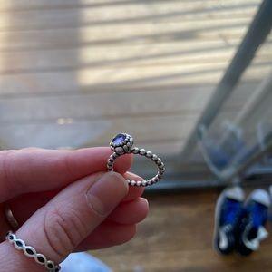 Pandora Amethyst Ring Size 5.5